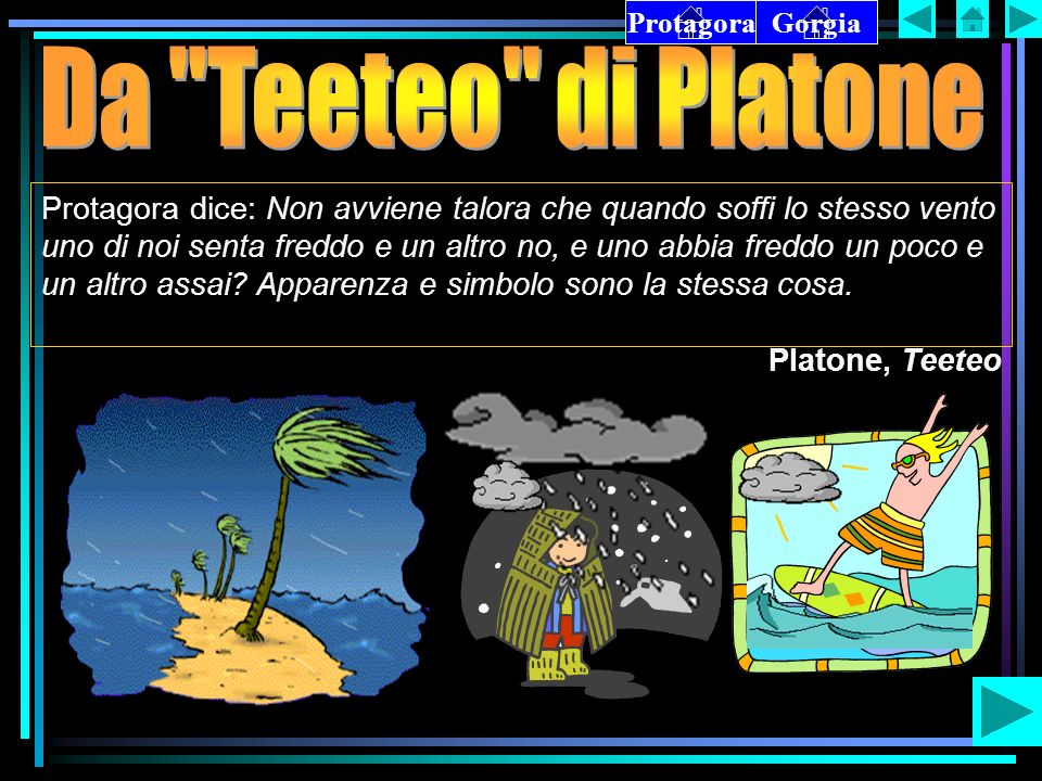 Protagora Gorgia. Da Teeteo di Platone.