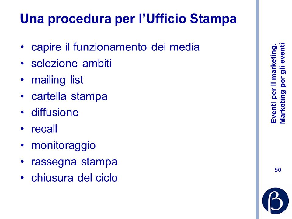 Una procedura per l'Ufficio Stampa