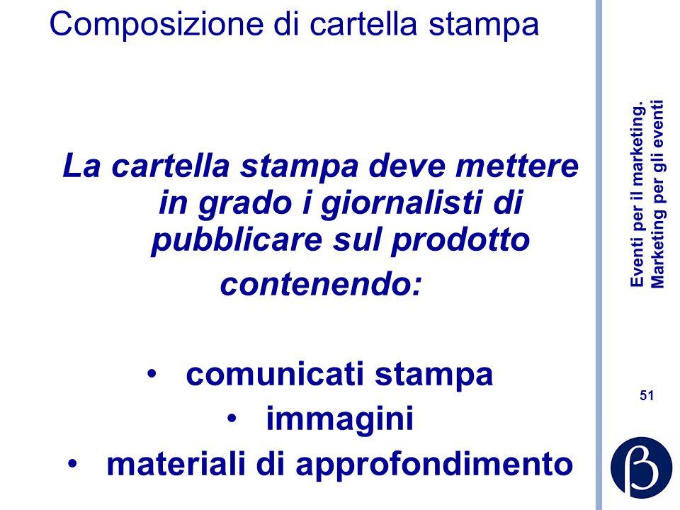 Composizione di cartella stampa