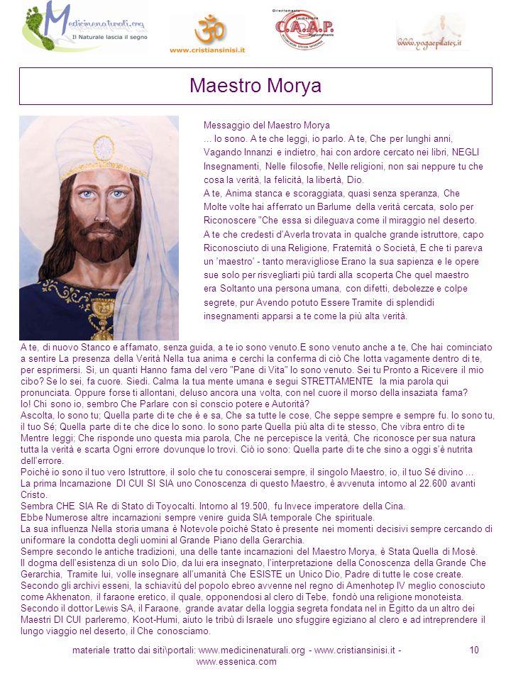 Maestro Morya Messaggio del Maestro Morya