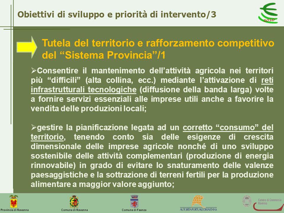 Obiettivi di sviluppo e priorità di intervento/3