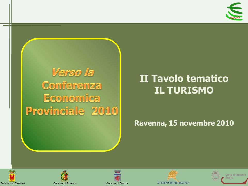 Conferenza Economica Provinciale 2010