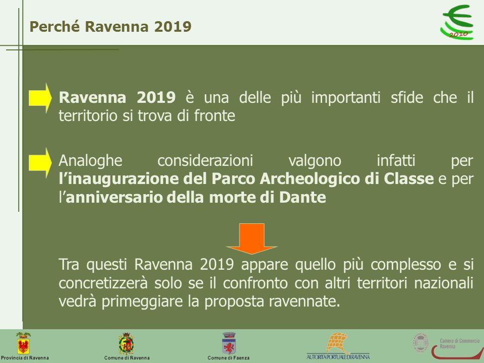 Perché Ravenna 2019 Ravenna 2019 è una delle più importanti sfide che il territorio si trova di fronte.