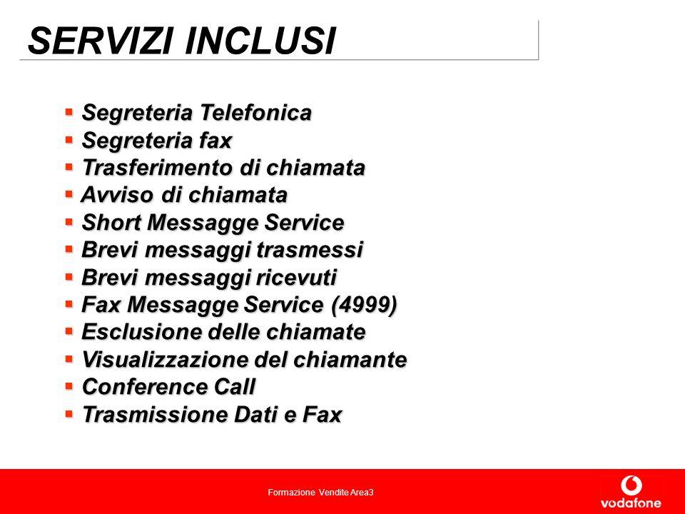 SERVIZI INCLUSI Segreteria Telefonica Segreteria fax