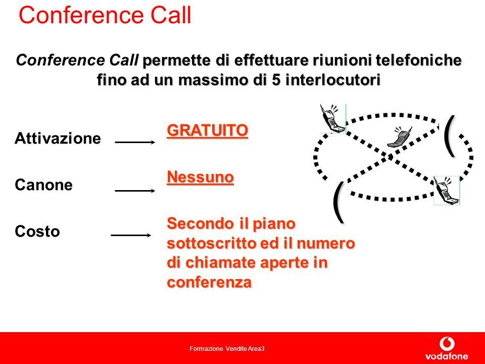 Conference Call Conference Call permette di effettuare riunioni telefoniche fino ad un massimo di 5 interlocutori.