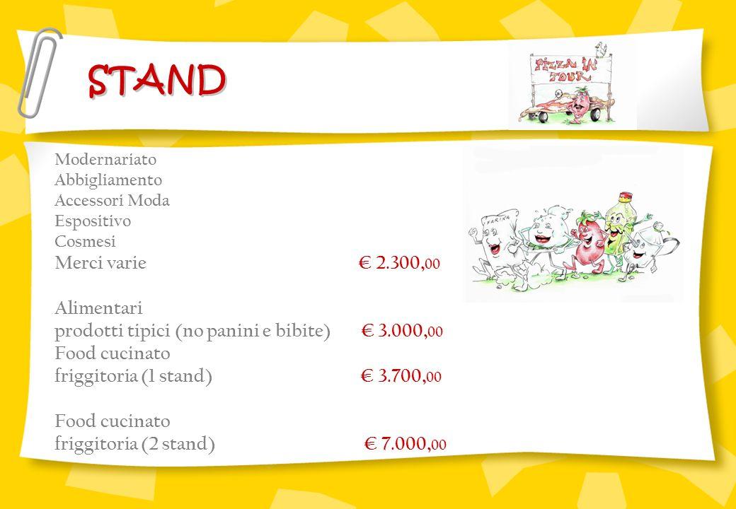 STAND Merci varie € 2.300,00 Alimentari
