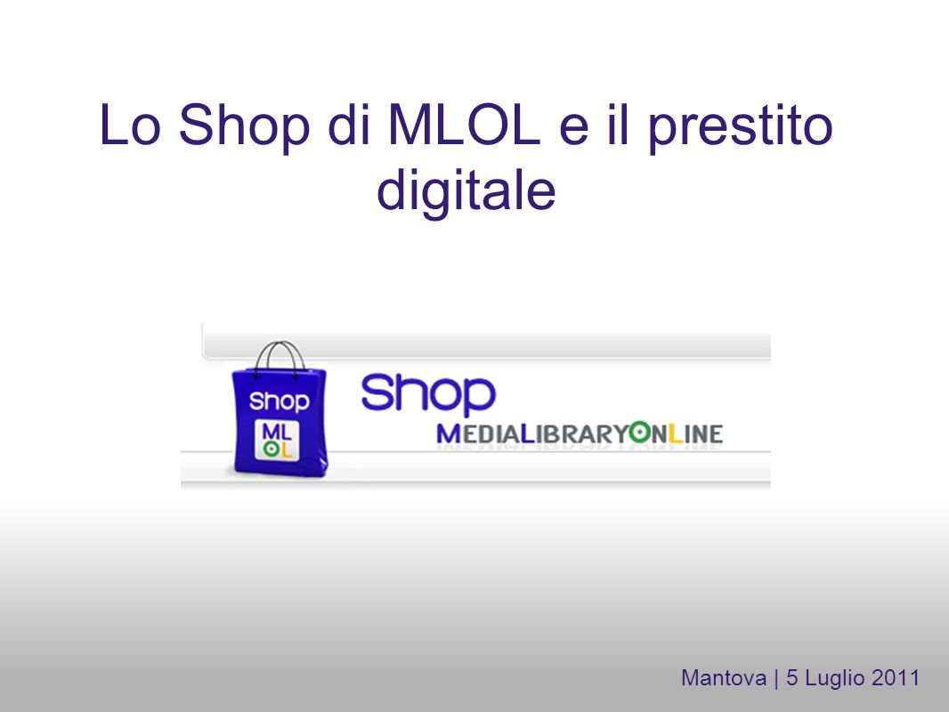 Lo Shop di MLOL e il prestito digitale