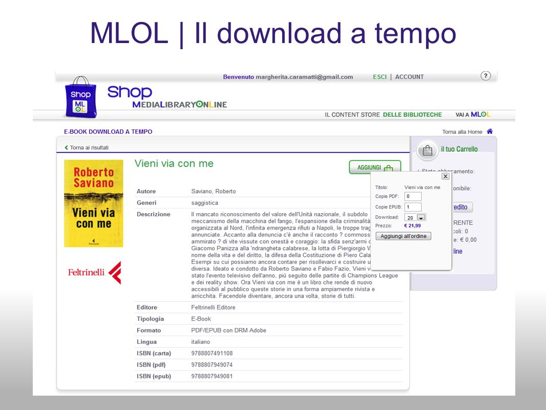 MLOL | Il download a tempo