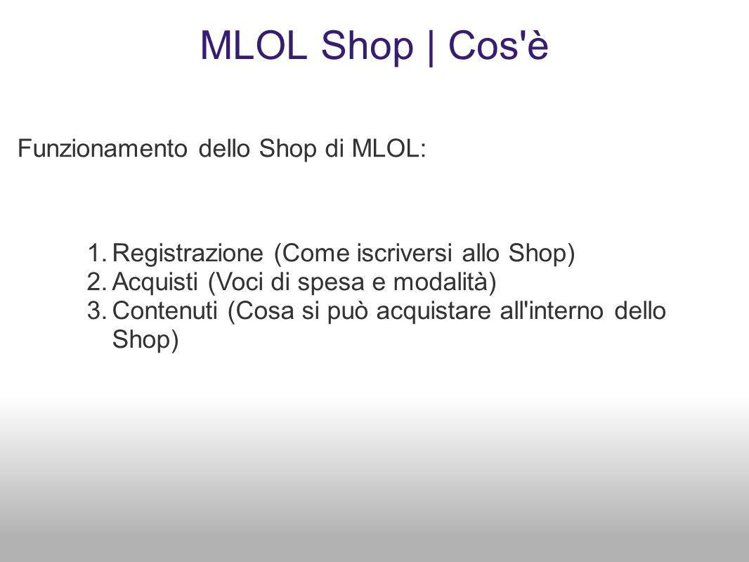 MLOL Shop | Cos è Funzionamento dello Shop di MLOL: