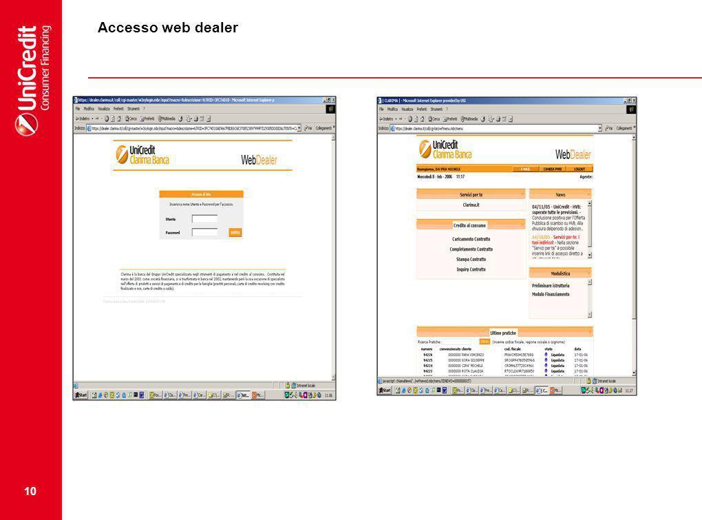 Accesso web dealer