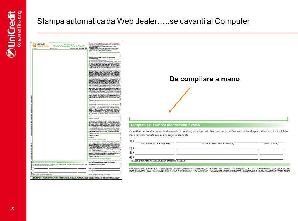 Stampa automatica da Web dealer…..se davanti al Computer