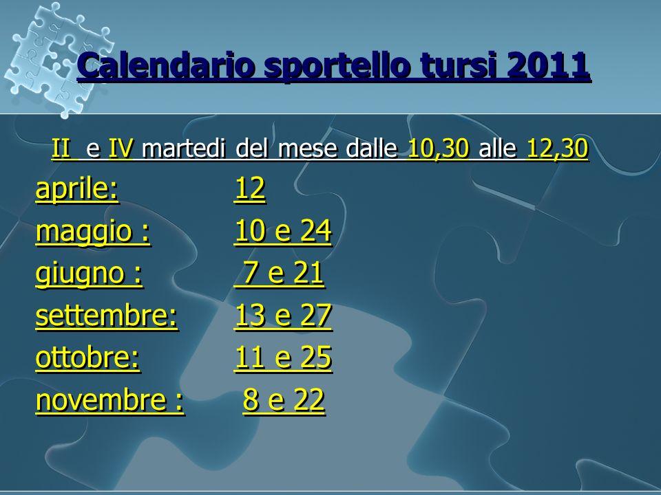 Calendario sportello tursi 2011