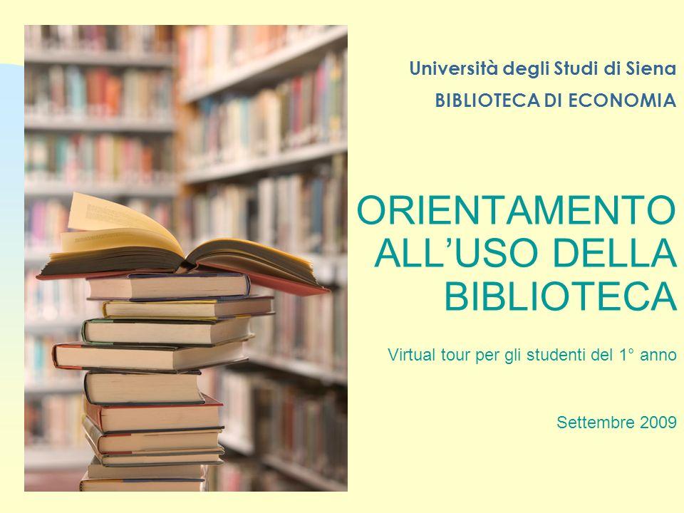 Università degli Studi di Siena BIBLIOTECA DI ECONOMIA