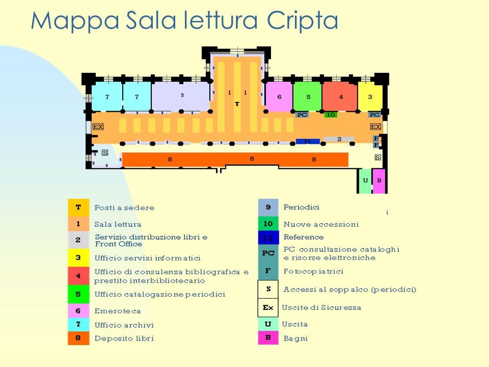 Mappa Sala lettura Cripta