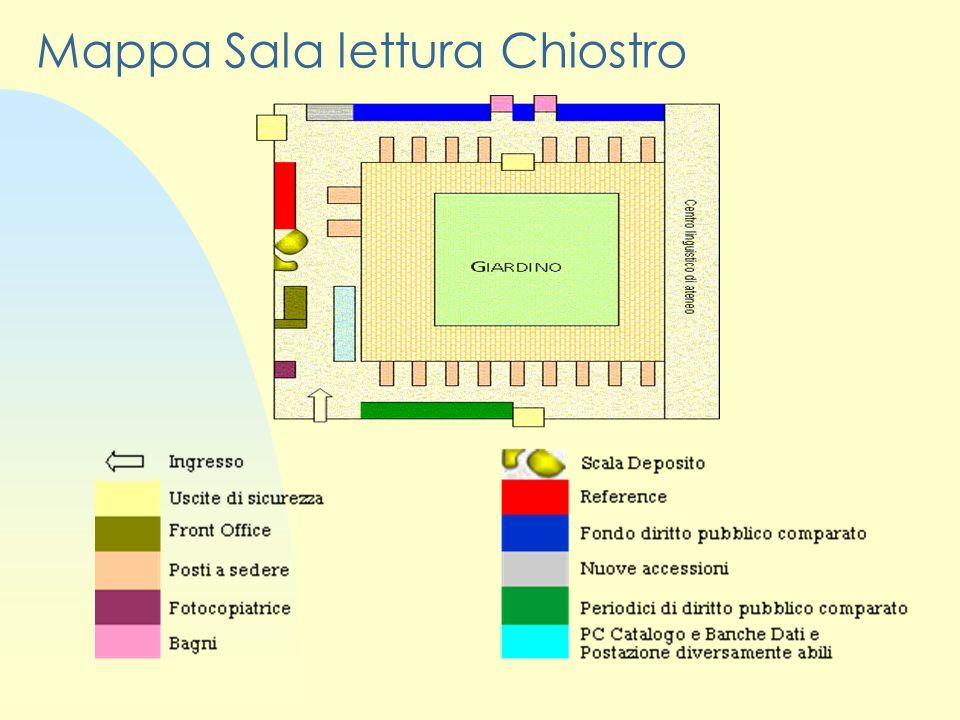 Mappa Sala lettura Chiostro