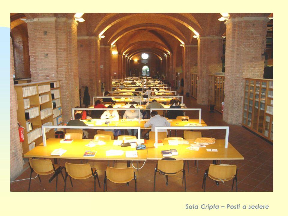 Sala Cripta – Posti a sedere
