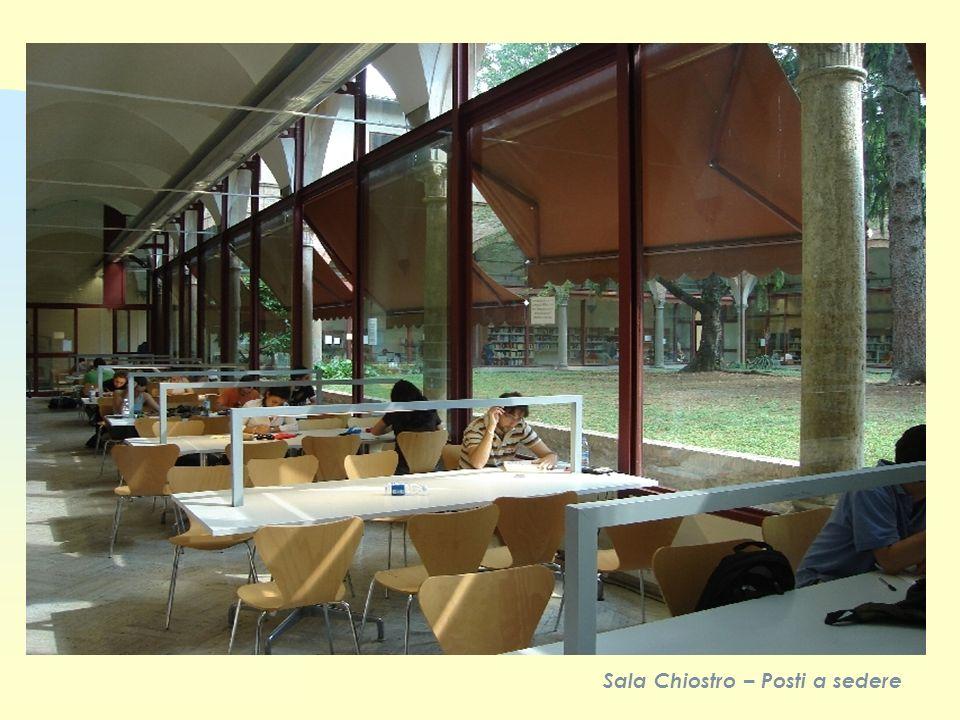 Sala Chiostro – Posti a sedere