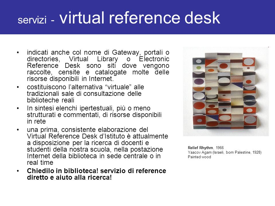 servizi - virtual reference desk
