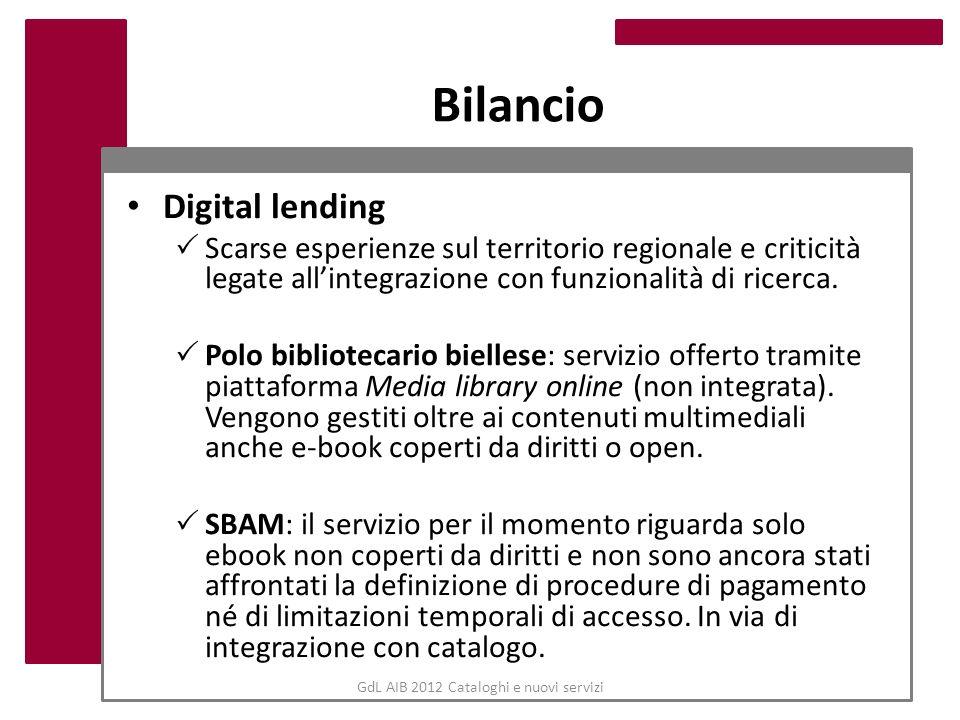 GdL AIB 2012 Cataloghi e nuovi servizi