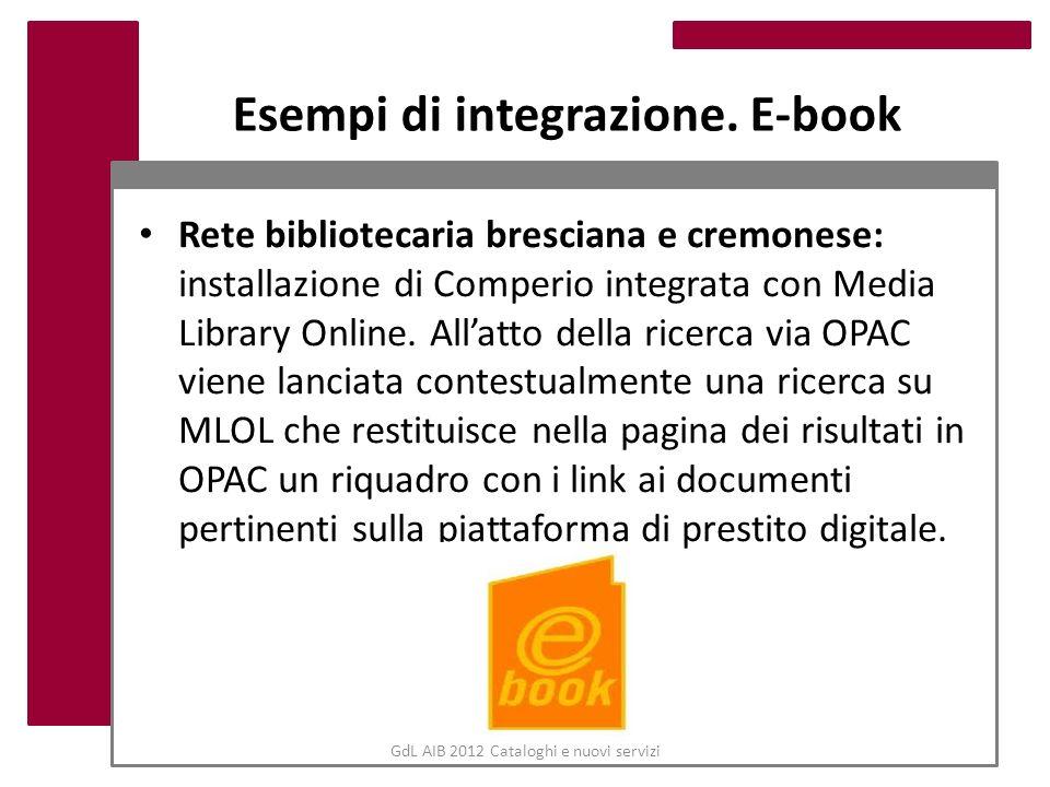 Esempi di integrazione. E-book