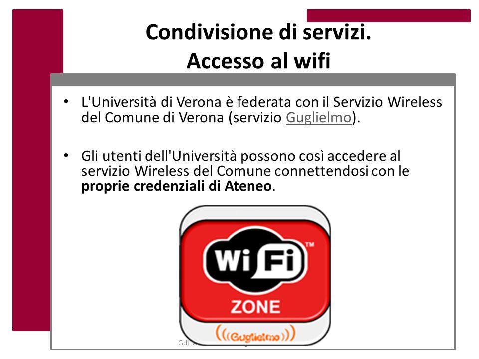 Condivisione di servizi. Accesso al wifi