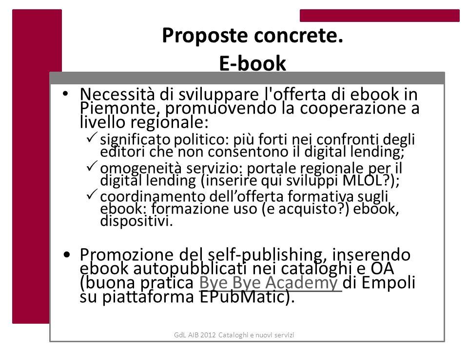 Proposte concrete. E-book