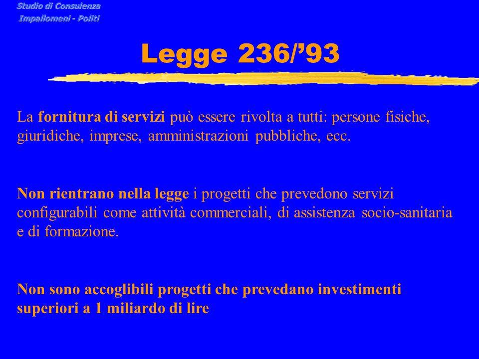 Studio di Consulenza Impallomeni - Politi. Legge 236/'93.
