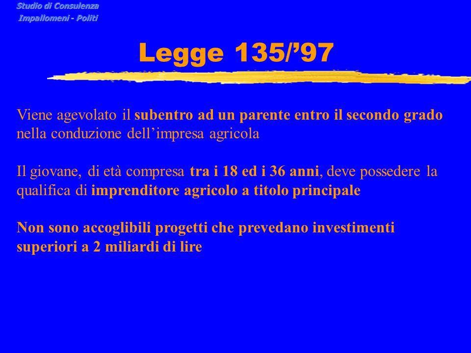 Studio di Consulenza Impallomeni - Politi. Legge 135/'97.