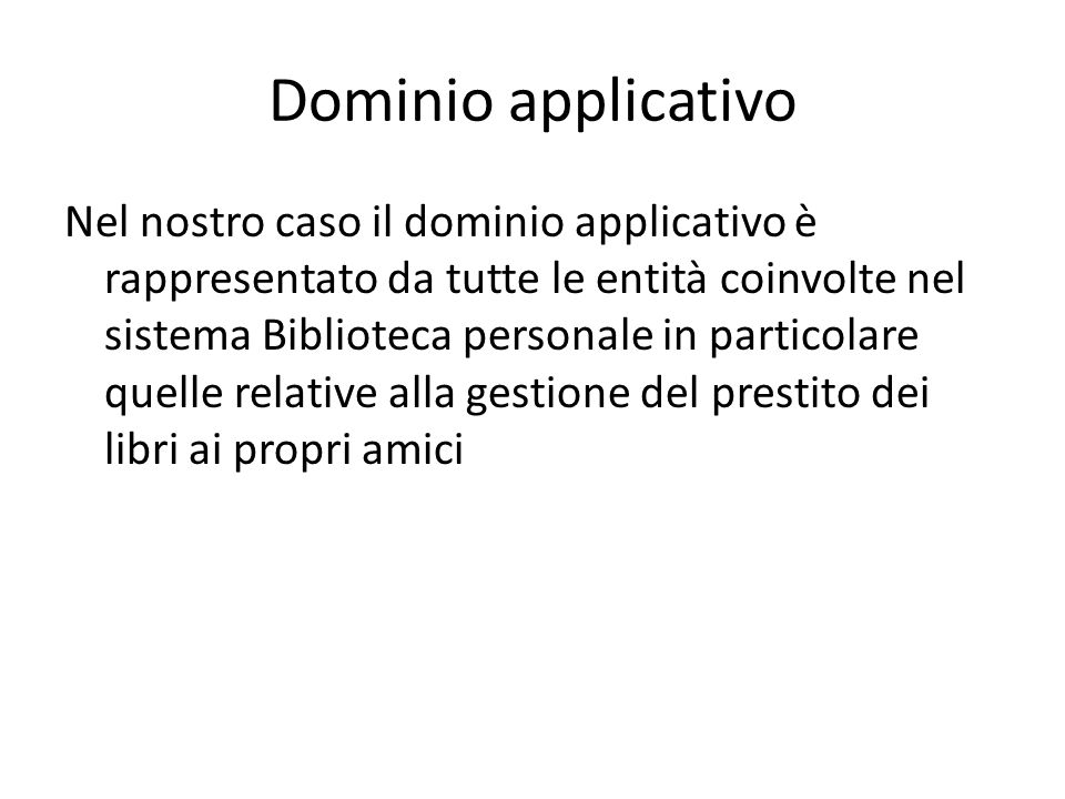 Dominio applicativo