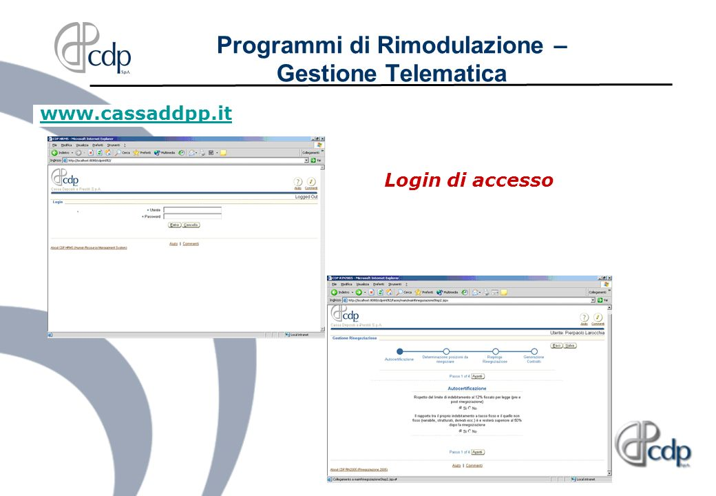 Programmi di Rimodulazione – Gestione Telematica