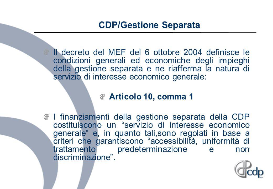 CDP/Gestione Separata