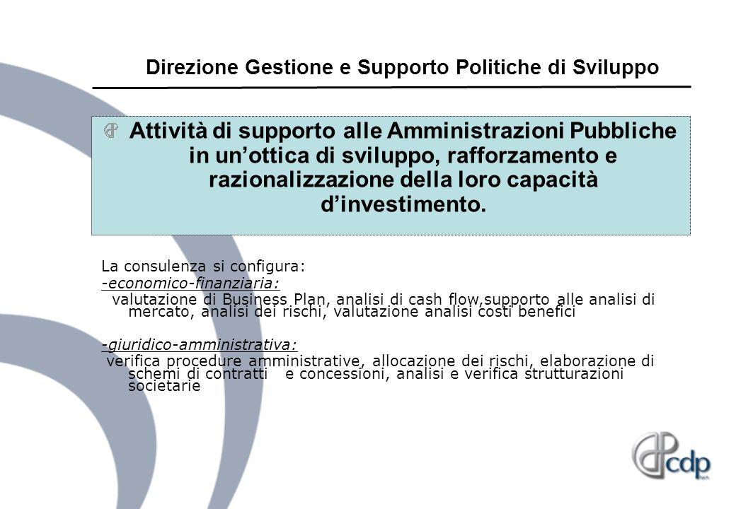 Direzione Gestione e Supporto Politiche di Sviluppo