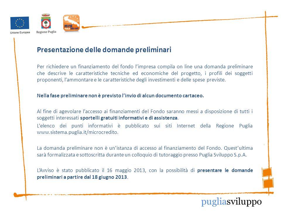 Presentazione delle domande preliminari