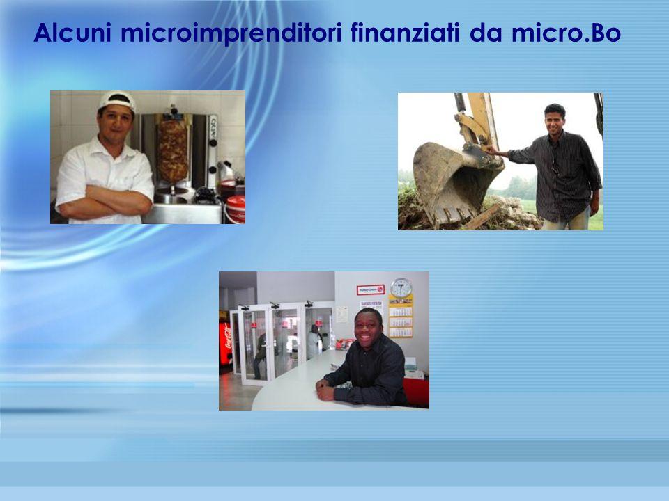 Alcuni microimprenditori finanziati da micro.Bo
