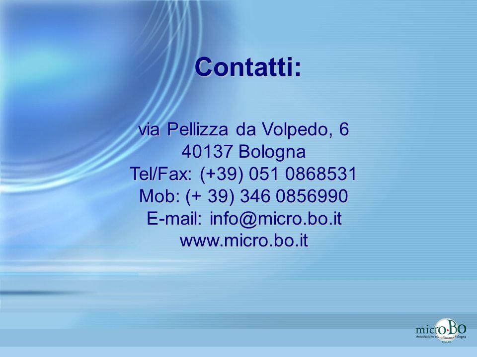 Contatti: via Pellizza da Volpedo, 6 40137 Bologna
