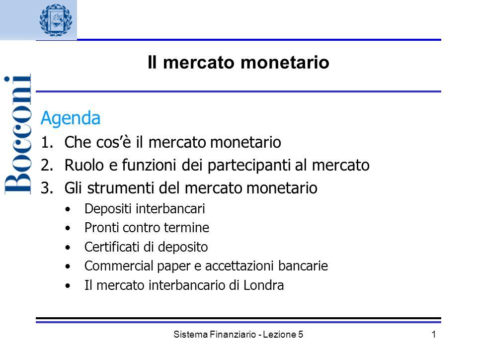 Sistema Finanziario - Lezione 5