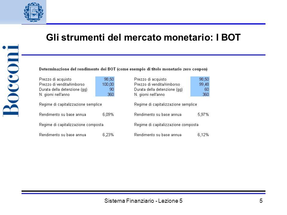 Gli strumenti del mercato monetario: I BOT