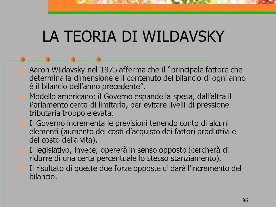 LA TEORIA DI WILDAVSKY