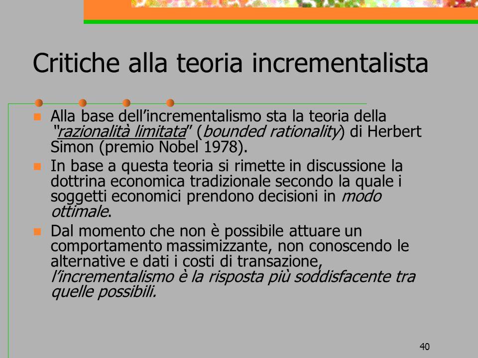 Critiche alla teoria incrementalista
