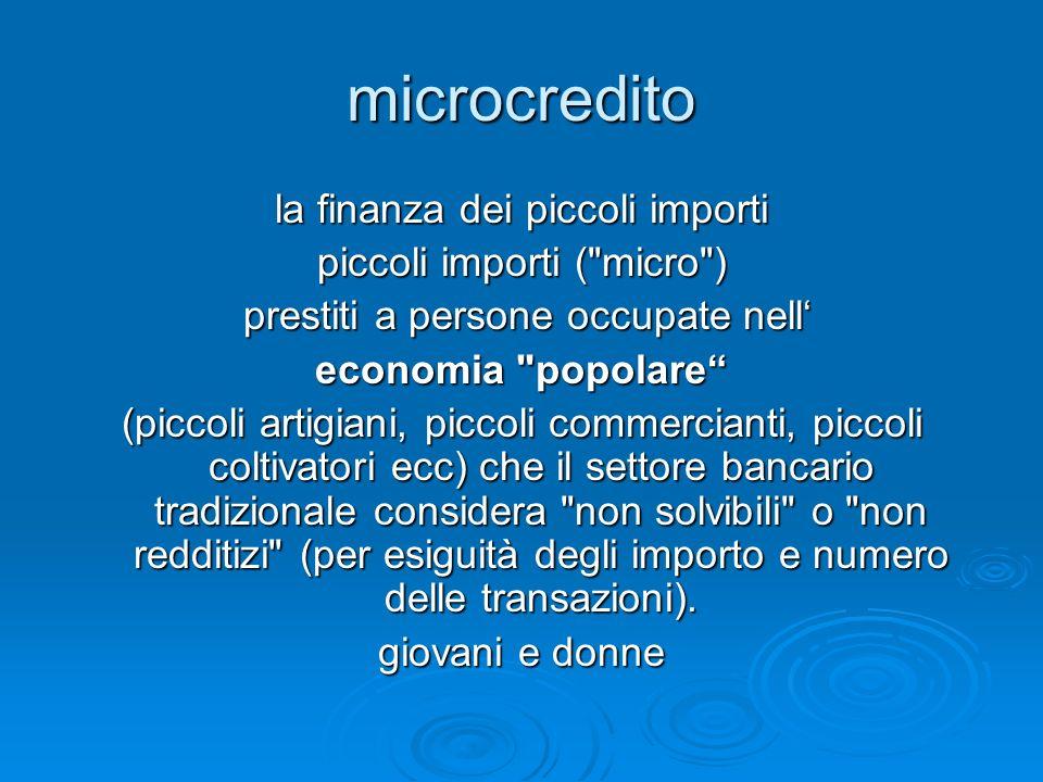 microcredito la finanza dei piccoli importi piccoli importi ( micro )