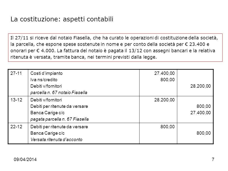 Societ per azioni le operazioni caratteristiche ppt for Parcella notaio
