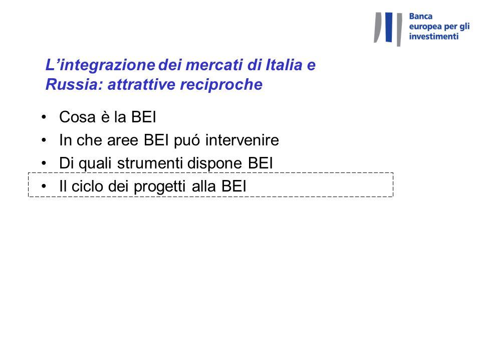 L'integrazione dei mercati di Italia e Russia: attrattive reciproche