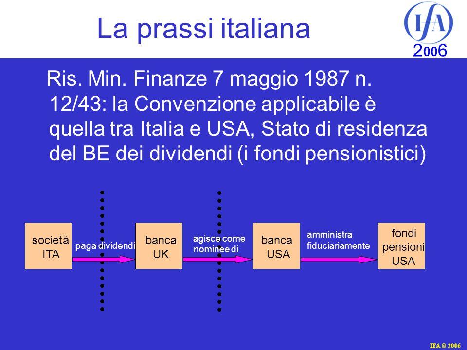 La prassi italiana