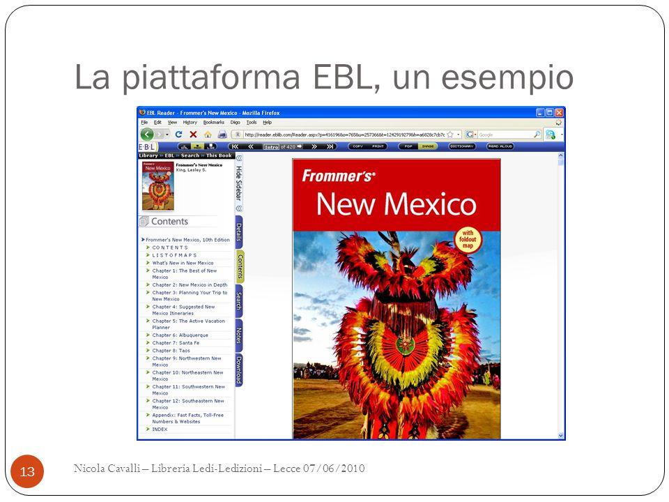 La piattaforma EBL, un esempio