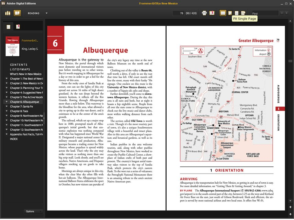 Using an EBL book with Adobe Digital Editions.