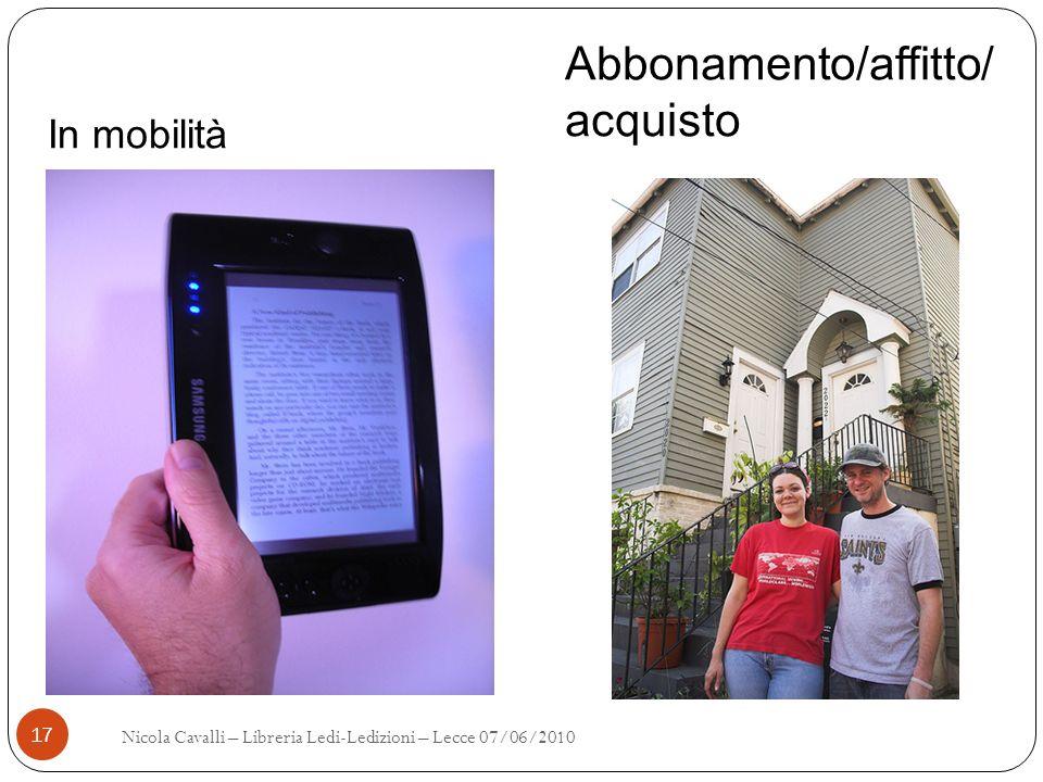 Abbonamento/affitto/acquisto