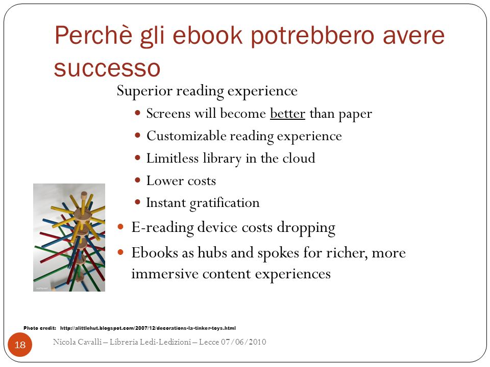 Perchè gli ebook potrebbero avere successo