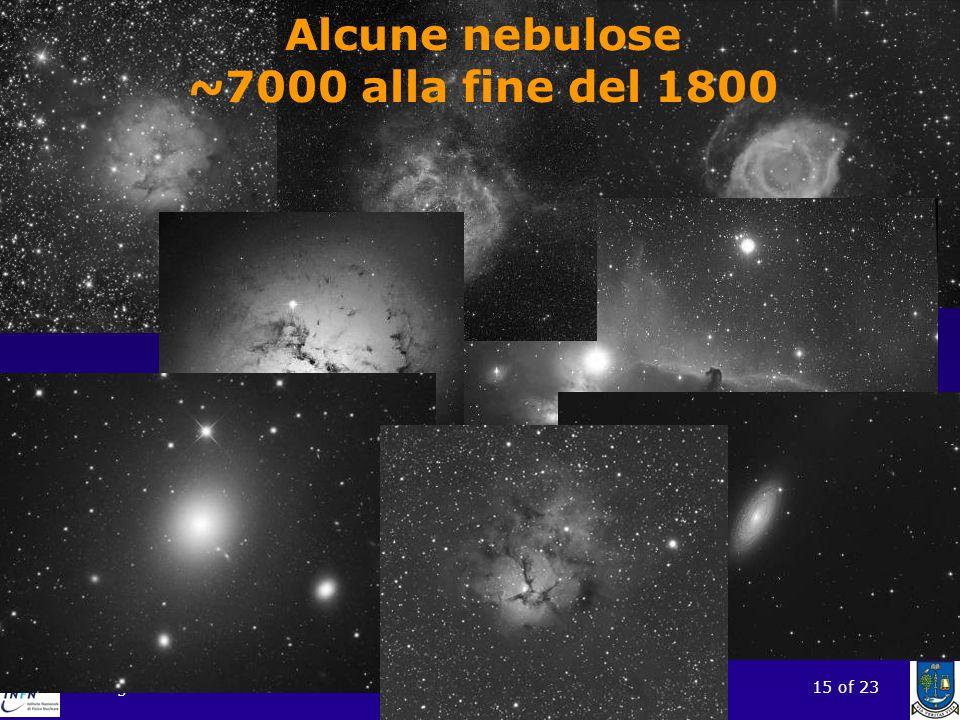 Alcune nebulose ~7000 alla fine del 1800