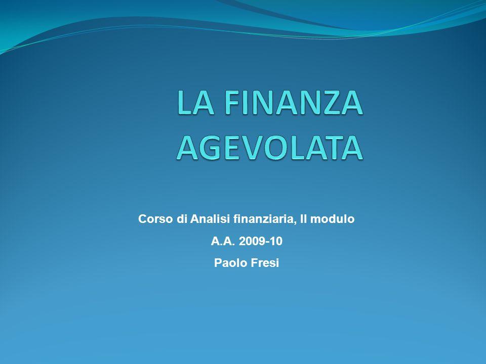Corso di Analisi finanziaria, II modulo