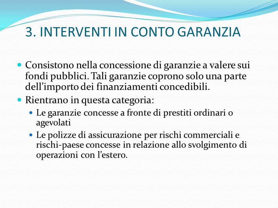 3. INTERVENTI IN CONTO GARANZIA